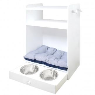 Armario para mascotas cama y comedero