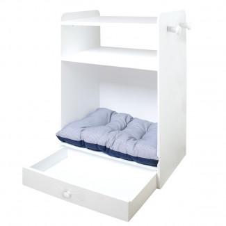 Armario para mascotas cama con cajón