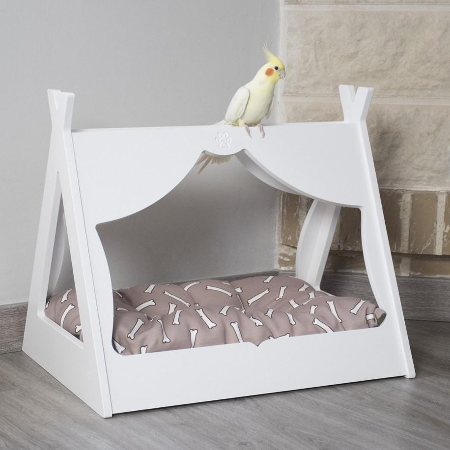 Cama de madera para mascotas Tipi