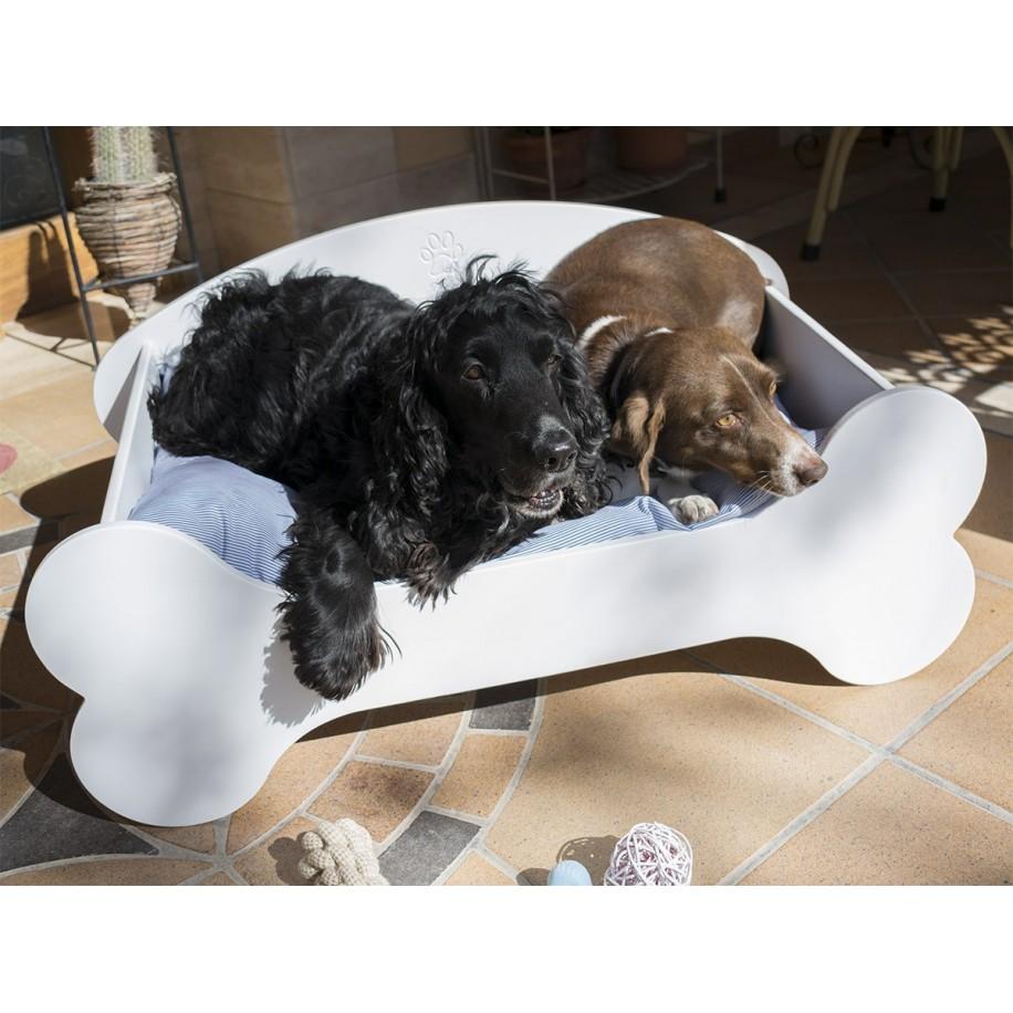 Cama para perros de madera Hueso